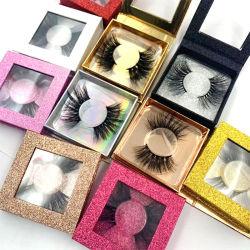100%の実質のミンクは鞭ボックスとの美容製品の構成を打つ