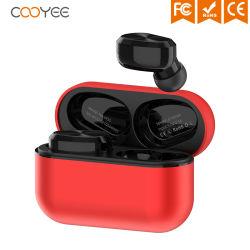 زر نمط القرص المضغوط طراز W5s الموجود داخل الأذن من النوع TWS مع سماعة رأس Bluetooth تشبه حبوب القهوة