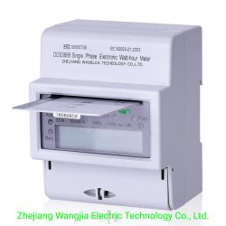 Misuratore di guida prepagato monofase/contatore di energia tipo DIN/pagamento anticipato monofase Watt-ora Misuratore/contatore di energia 5 (20) a