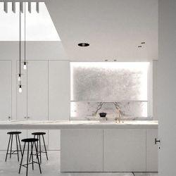 Axcellent personalizada Cocina laca Blanco alto brillo las puertas del armario de cocina