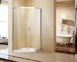 Camere con doccia scorrevole in acciaio inox con 8 mm trasparente temperato Vetro