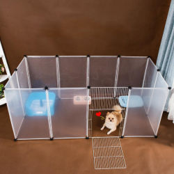 Las pequeñas y medianas Pet transparente valla de la jaula de perro gato