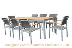 Mesa de comedor contemporáneo / / aluminio / Teca Rectangular/Jardín