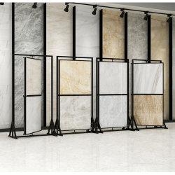 공장 맞춤형 쇼룸 회전 금속 프레임 스탠드 전시용 디스플레이 스탠드 대리석 타일용 석재
