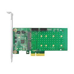 Linkreal 4-Lane Pcie 4 Portm. 2 SATA 3.0 Adapter mit Controller-Karte des Marvell Chipset-88se9215 6gbps SATA
