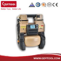 中国ブラシレスエアコンプレッササプライヤオイルフリーデンタルポータブルサイレント 1.5HP オイルレスエアコンプレッサ、 5L エアタンクメーカー OEM 中国のディーラー GDY-881
