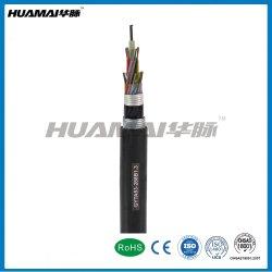 Cable eléctrico de la comunicación Entierro al aire libre el doble cable de fibra óptica blindado GYTA53