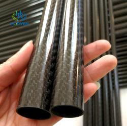 공장 도매 고품질 사용자 정의 3K Till Plain Matte Glossy 카본 파이버 파이프 튜브