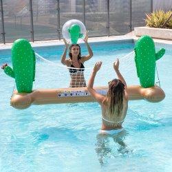 Piscina inflável água de flutuação do jogo de voleibol Cactus definido para diversão