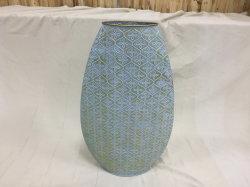 Мода Зеленый цветок металла ваза Декор дома