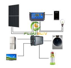 Casa solar Los paneles de iluminación con el sistema de energía potencia MPPT Controlador de carga solar y generador de energía solar