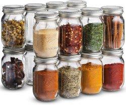 향미료와 사탕을%s 뚜껑을%s 가진 소형 4oz 식품 보존병 작은 유리제 저장 단지