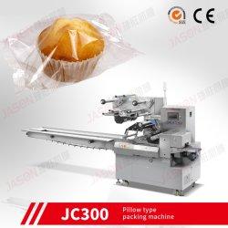 Flujo automático del papel de embalaje Cup Cake de máquinas de embalaje horizontal