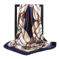 Diseño personalizado de Impresión Digital de la fábrica de poliéster Dama Pañuelo de seda