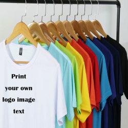 卸し売り人の注文の設計ロゴ Unisex の女性の子供の大型の衣類 普通刺繍入りブランク T シャツ OEM ODM ファッションホワイト綿 100% T シャツプリント