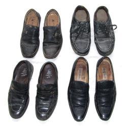 Des vêtements usagés été Chaussures en cuir pour hommes dans la ramasseuse-presse