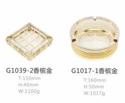 Cenicero de vidrio de alta calidad de las existencias
