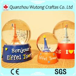 Kundenspezifische Eiffelturm-Andenken-Schneeball-Geschenke für Verkauf