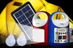 Systeem van de ZonneMacht van het Huis van het Systeem van de Verlichting van de Uitrustingen van de ZonneMacht van de LEIDENE Schemerlamp van het Bureau het Zonne Draagbare