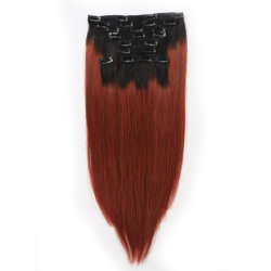 2016 nuevo cabello sedoso de Malasia directamente Clip Extensiones de Cabello