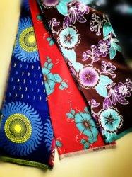 Durable textiles modernes de gros de 100 % polyester Tissu réel de l'Afrique de cire