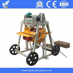 Movimento calcestruzzo cavo mattone macchinari diesel uovo posa cemento mobile Macchina per la produzione di blocchi