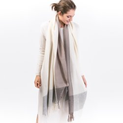 新しい設計ブレンドスカーフカシミア及び絹