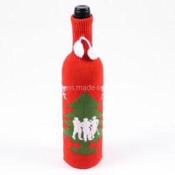Luva do vaso Jacquard tricotado refrigerador de vinhos com o logotipo personalizado