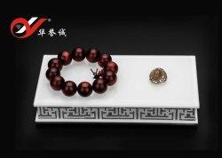 مستطيلة أكريليكيّ مجوهرات عرض منصّة قاعدة مع زخرفة