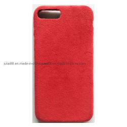 2019 Nuevo diseño de Venta caliente silicona líquida con terciopelo rojo para teléfono móvil
