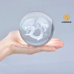 Longwin cristal gravé au laser 3D Dragon Ball avec socle en bois gratuit avec boîte cadeau décors Bureau cadeau d'anniversaire
