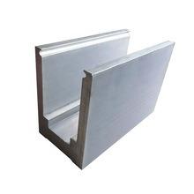 Canal U Panel de aluminio, vidrio aluminio balaustrada Channel