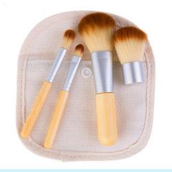 Alta Qualidade Viagens Mini PCS 4 Bambu Ferramentas de beleza escovas de maquiagem rótulo privado acções de promoção