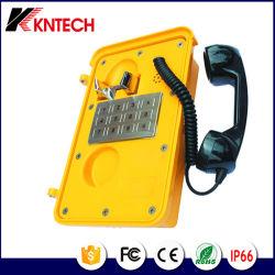 Nouveau clavier de téléphone d'urgence métal Knsp-11 Kntech Téléphone industriel