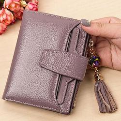 Новый Кожаное портмоне муфты женщин кошелек с Tassel Emg5114