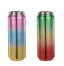 多彩な印刷を用いる500mlステンレス鋼のコップ