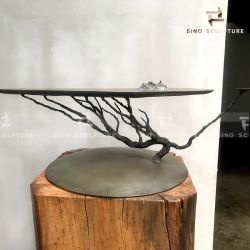 Decoração delicada de bronze fundido a forma de Árvore Escultura
