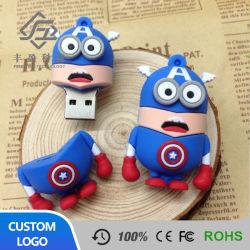 Personnage de bande dessinée Captain America PVC Stick USB 2.0 Lecteur Flash USB