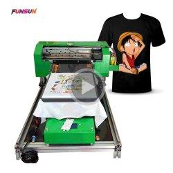 Funsun tamanho A3 T-shirt DTG Impressora Pano Digital tecido suéter T Shirt máquina de impressão directa para impressora de vestuário