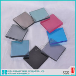 Diverses épaisseurs et les couleurs sont disponibles 5.5.2 en verre feuilleté dichroïque