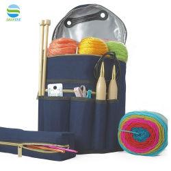 Organizador de almacenamiento duradero tejido Crochet tejer Bolsa de tela Bolsa de almacenamiento de hilo