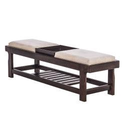 Современный отель, мебель деревянная кровать конец табурет, полка для хранения