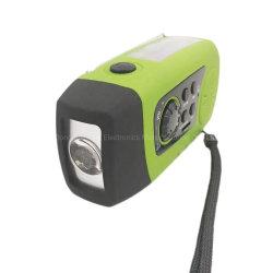 Beweglicher FM Solartaschenlampen-Radio des mini Emergency Kurbel-