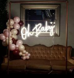 Personalizada de Fábrica travando colorido logótipo acrílico Neon de sinal para armazenar casamento decoração do bar
