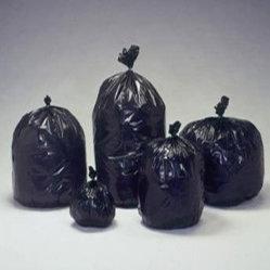 Sac à ordures en plastique sac à déchets sac poubelle LDPE de matériaux recyclés de gros en HDPE
