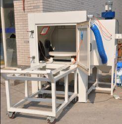 Trockener Absaugung-Typ Sandstrahlgerät mit Schwenktisch und Karre