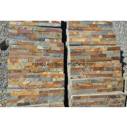 自然な錆カラースレートは販売のための石塀をタイルを張る