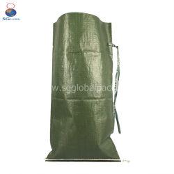 Оптовая торговля высокой прочности 14*26 Зеленый PP тканого песком