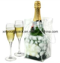 Рекламные портативные пластиковые бутылки вина из ПВХ охладителя мешок льда