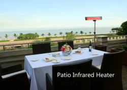 1500W/2000W/3000W Quartz de chauffage infrarouge électrique Réchauffeur pour dîner en plein air Zone/Restaurant/BBQ